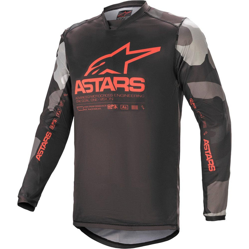ALPINESTARS 2021 RACER TACTICAL GREY CAMO/RED JERSEY