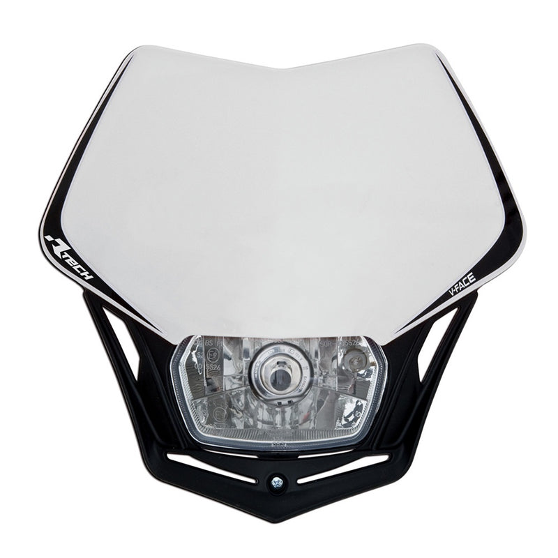 RTECH WHITE V-FACE HALOGEN HEADLIGHT