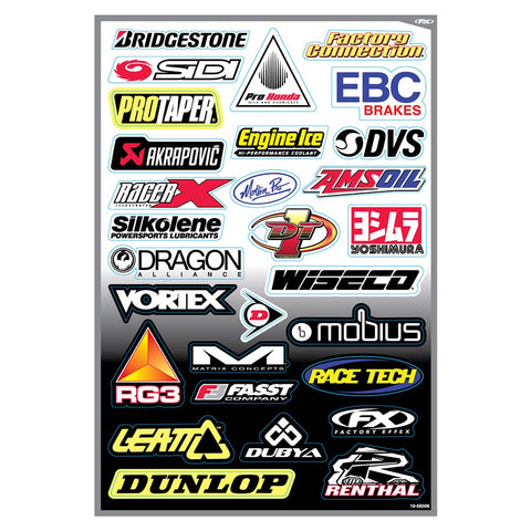 FACTORY EFFEX SPONSOR KIT D STICKER SHEET