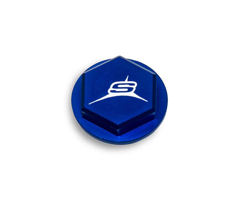 SHERCO REAR MASTER CYLINDER CAP BLUE 6530