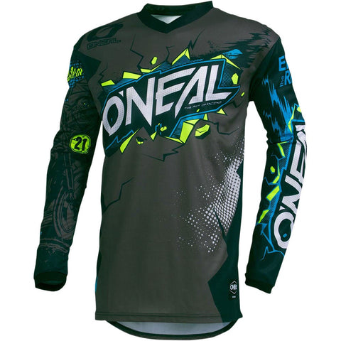 ONEAL 2020 ELEMENT VILLAIN GREY JERSEY