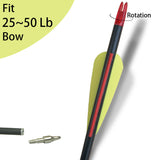 12 Pcs Carbon Arrows for Compound bow