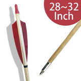 Archery Wood Arrows 28~32 Inch
