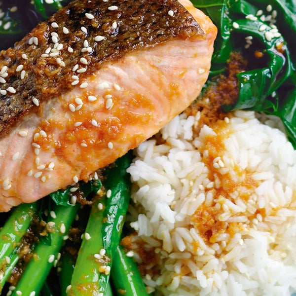 Asian Glazed Coconut Salmon Meal
