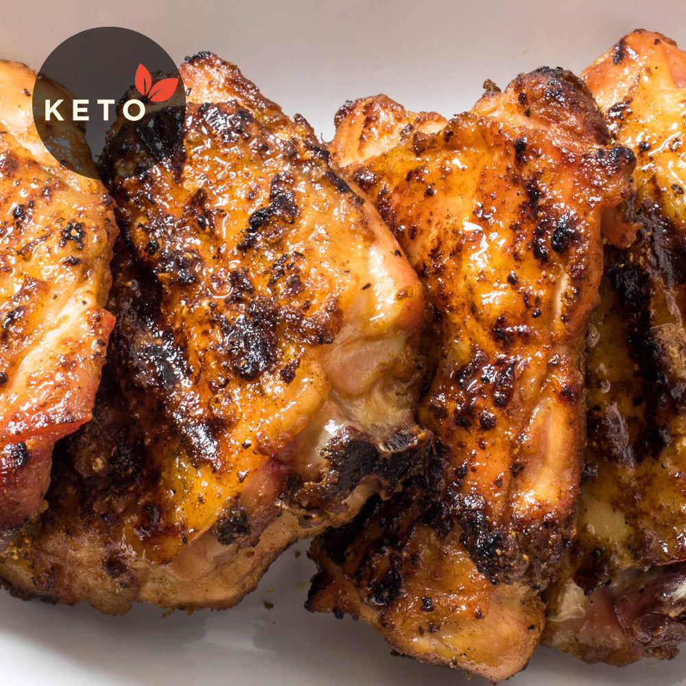 Chicken Thigh w/ Choice of Vegetables & Coconut Oil (Keto)