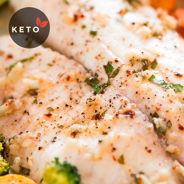Tilapia w/ Choice of Vegetables & Coconut Oil (Keto)