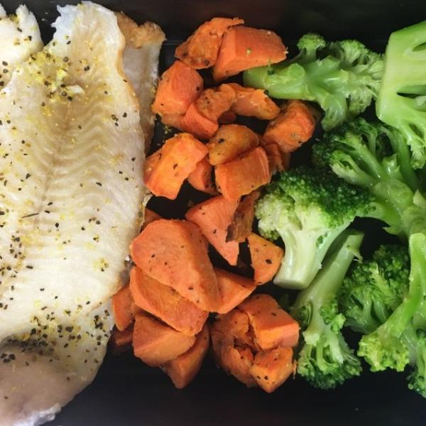 Tilapia w/ Sweet Potato & Broccoli