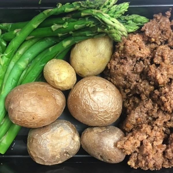 Extra Lean Ground Beef w/ Little Gem Potato & Asparagus