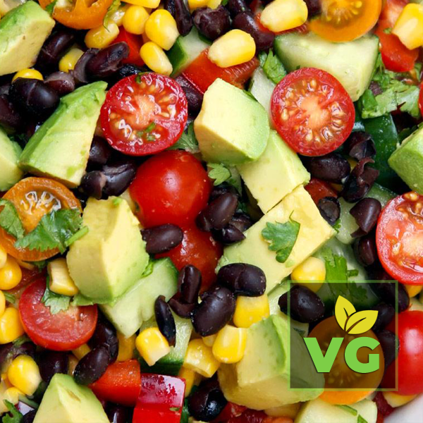 Black Bean Kale Super Salad (Vegan)