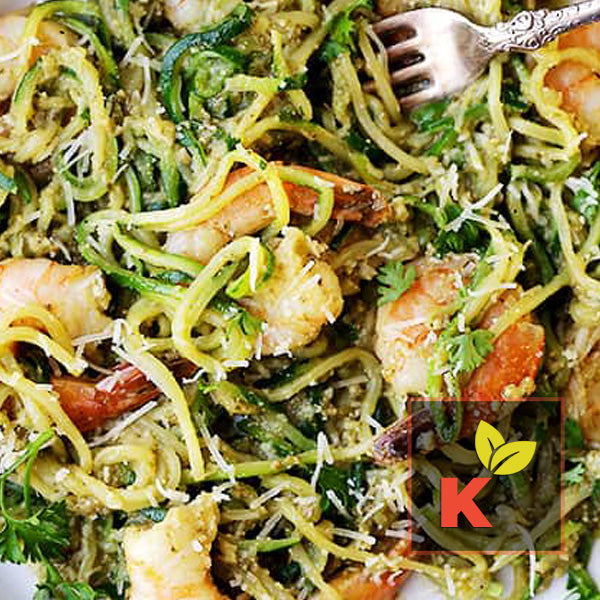 Cajun Pesto Shrimp w/ Zoodles (Keto)