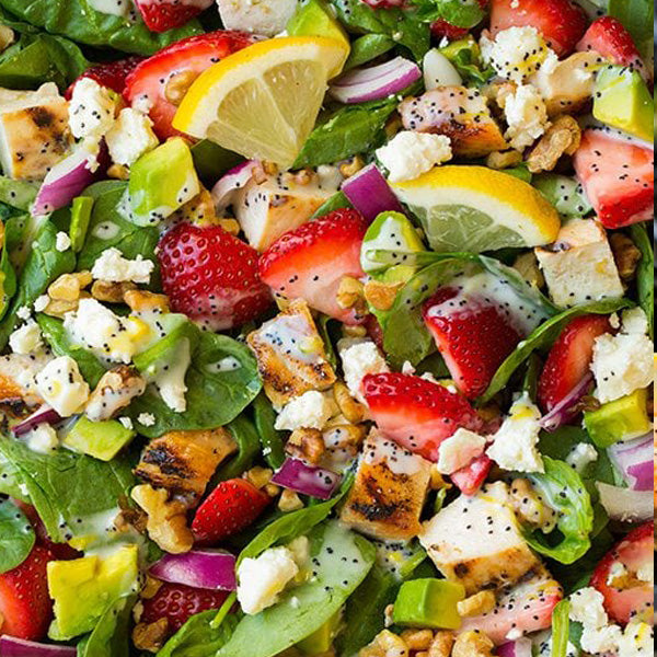Chicken Lemon Poppy Seed Salad