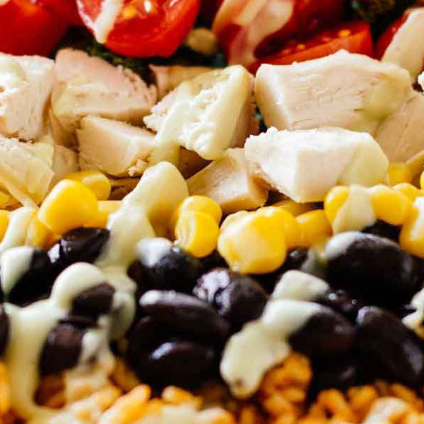 Southwest Chicken Burrito Bowl Meal