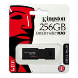 Pendrive Kingston DT100G3 USB 3.0 256 GB Black