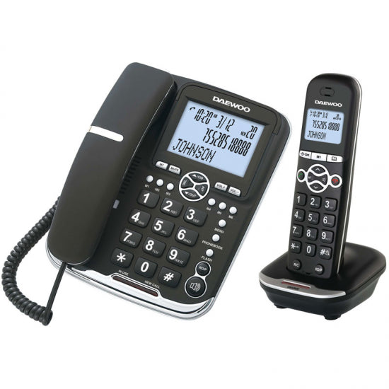 Wireless Phone Daewoo DTD5500 DECT LCD LED COMBO - Flauven