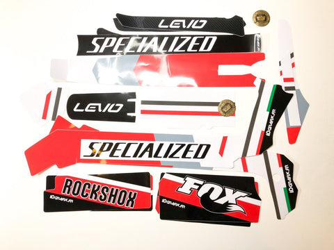Specialized Levo 2019-2021 Full Graphics Kit Ducat Edition (Red) Ebike Graphics IDGrafix