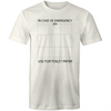 In case of emergency cut for toilet paper T-shirt COVID-19 Funny tee