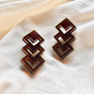 Chevron Studs in Tortoiseshell - hall-wade