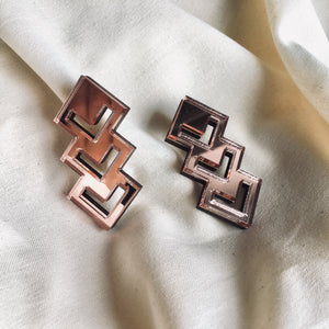 Chevron Studs in Bronze Mirror - hall-wade