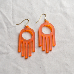 Faro Drop Earrings in Orange