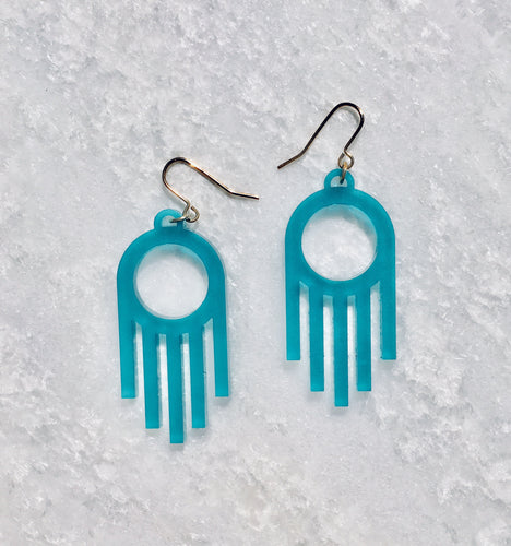 Faro Drop Earrings in Turquoise