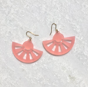 Sol Drop Earrings in Pink - hall-wade