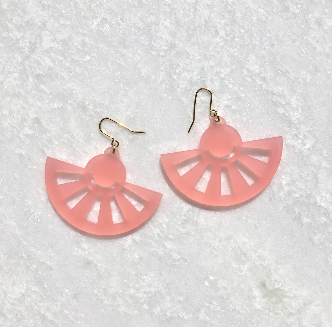 Sol Drop Earrings in Pink