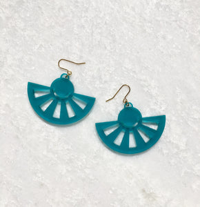 Sol Drop Earrings in Turquoise