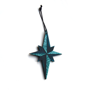 Pointed Star Decoration in Green