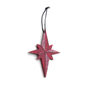 Pointed Star Decoration in Pink
