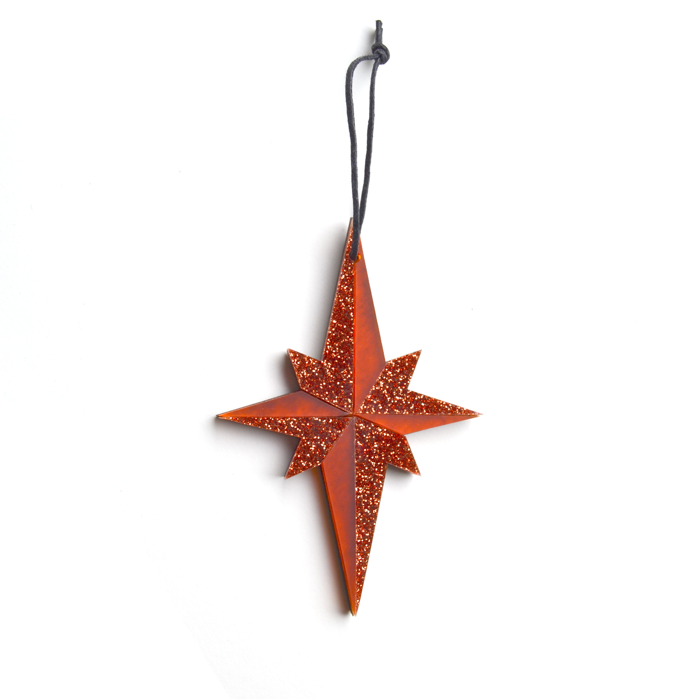 Pointed Star Decoration in Orange