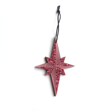 Load image into Gallery viewer, Pointed Star Decoration in Pink