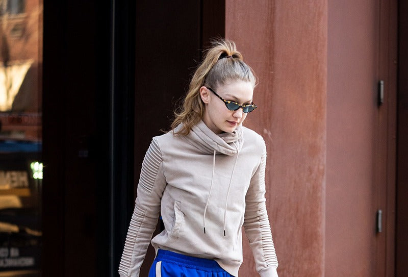 GIGI HADID STYLED ATHLEISURE ENSEMBLES WITH COOLEST BOOTS