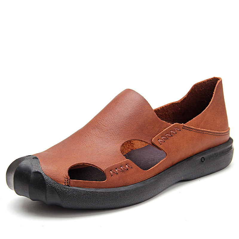 Ramisu Men Casual Cowhide Sandals