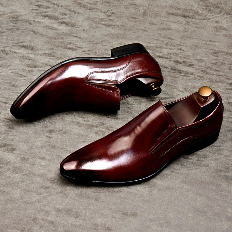 Ramisu Men Casual Cowhide Slip-On Shoes