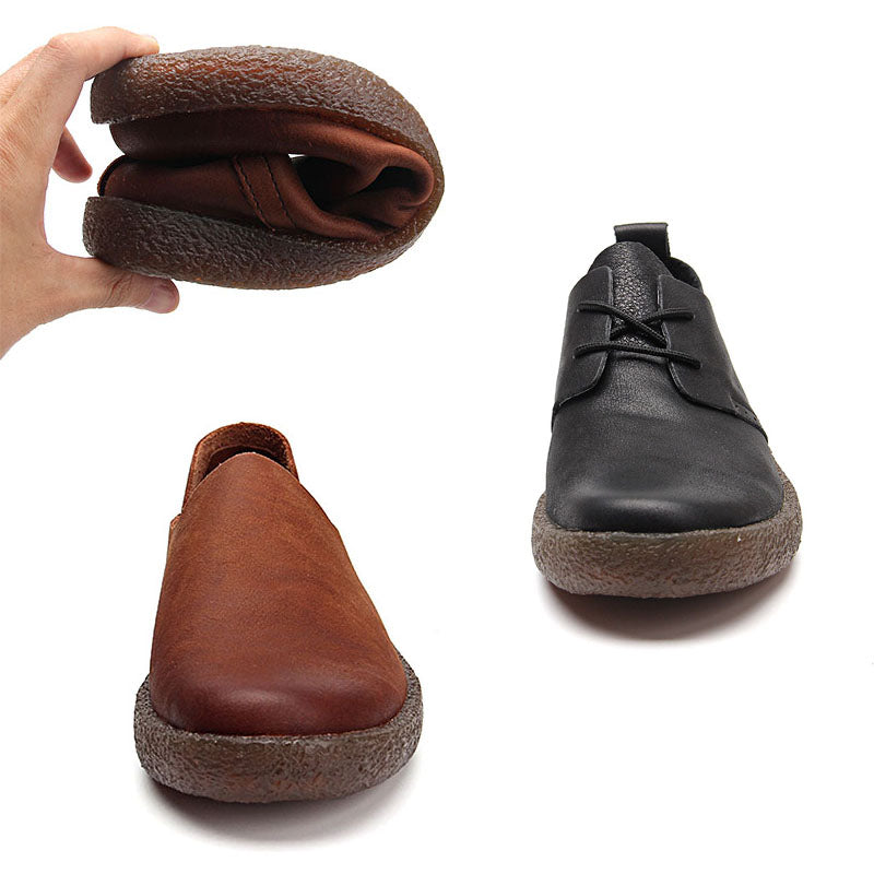 Ramisu Men Casual Cowhide Loafers