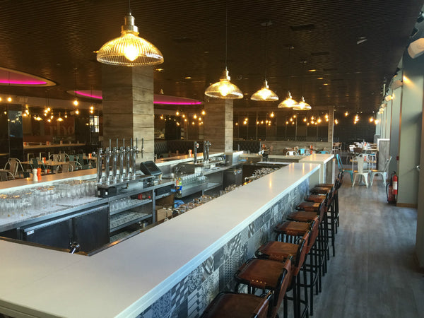 Industville Restaurant lighting by DB Lighting