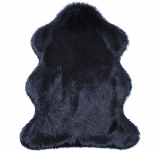 Ebony Faux Fur Animal Rug