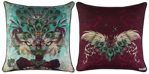 Madame De La Soir Large Cushion in Marine - Santorus