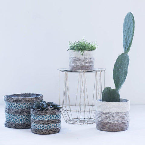 Seagrass lined baskets