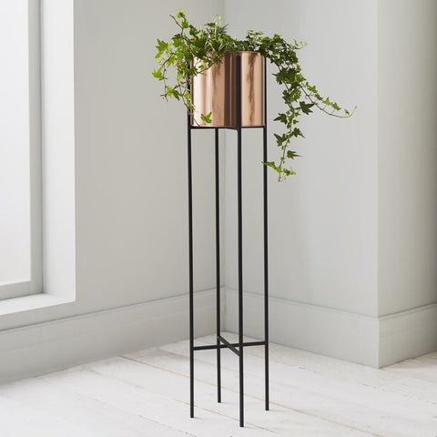 Bronze Tall Raised Planter and Stand