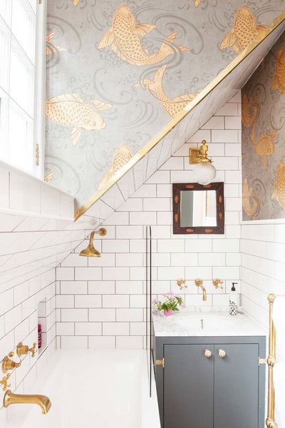 Pinterest UK Interior Awards - Best Wow Factor Interior: The Pink House bathroom – Emily of The Pink House / Grazia Magazine