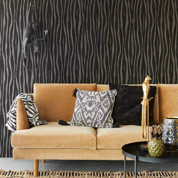 Zebra Print Textured Wallpaper - Eijffinger Skin Collection