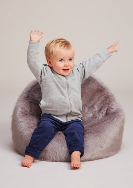 Childrens Faux Fur Beanbag