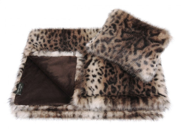 Childrens Faux Fur Comforter & Pillow