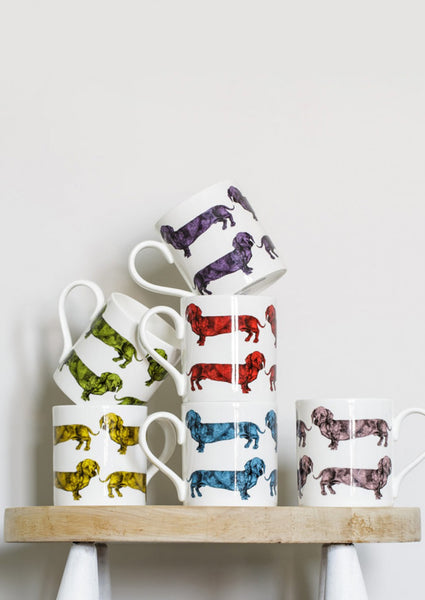 Dachshund Mug by Lisa Bliss