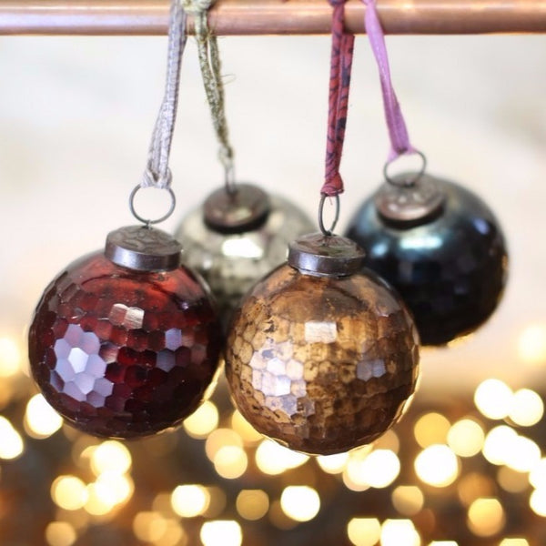 Antique Glass Vintage Style Christmas Baubles