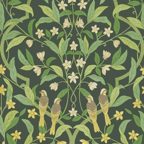 Jasmine & Serin Symphony Wallpaper - Cole & Son