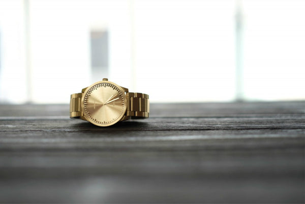 LEFF amsterdam Brass Tube Watch S38