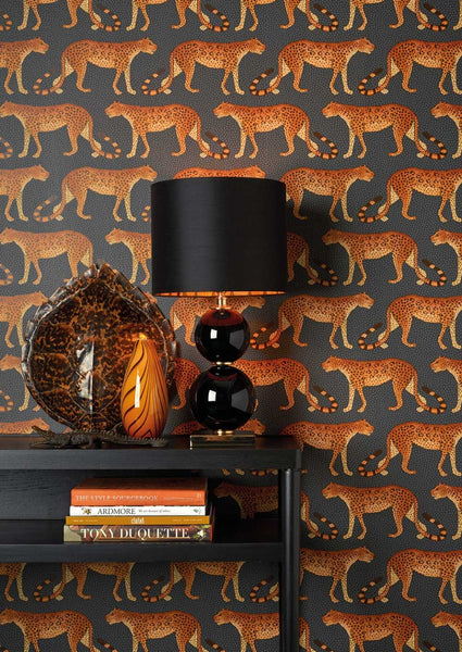 Leopard Walk Wallpaper - Cole & Son