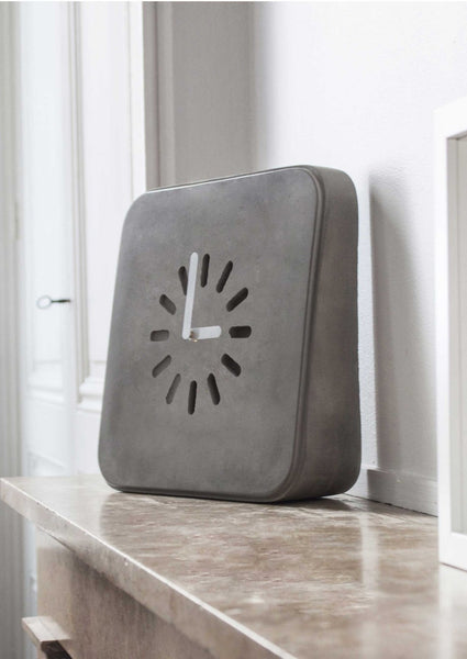 Life In Progress Clock by Lyon Beton at Lime Lace Interiors.